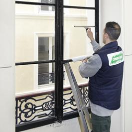 nettoyage vitre d'immeuble
